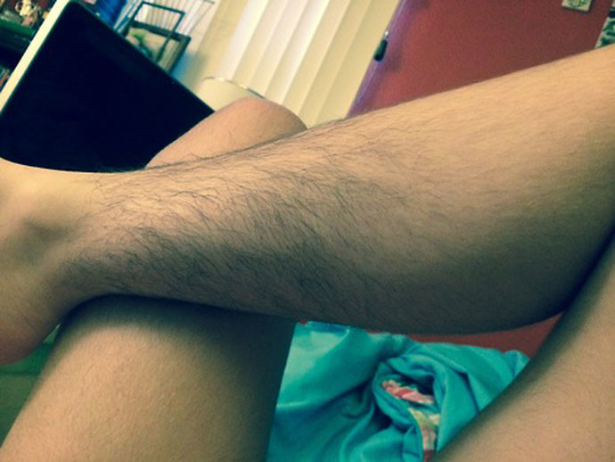 Photos of girls with hairy legs