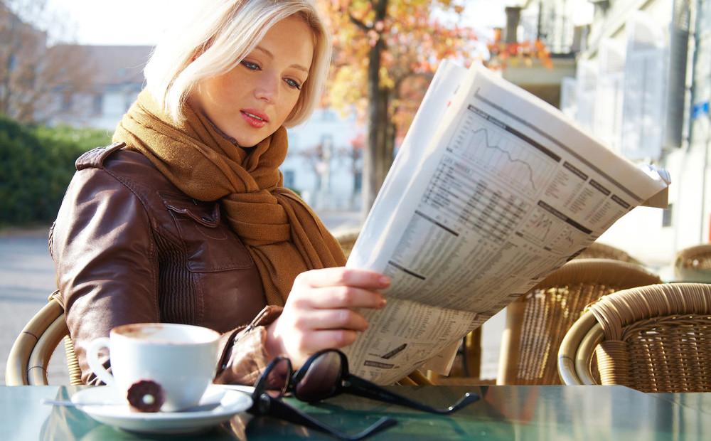 человек читает газету фото люди считают что