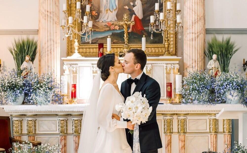 Motorist Reinis Nitišs has become a married man