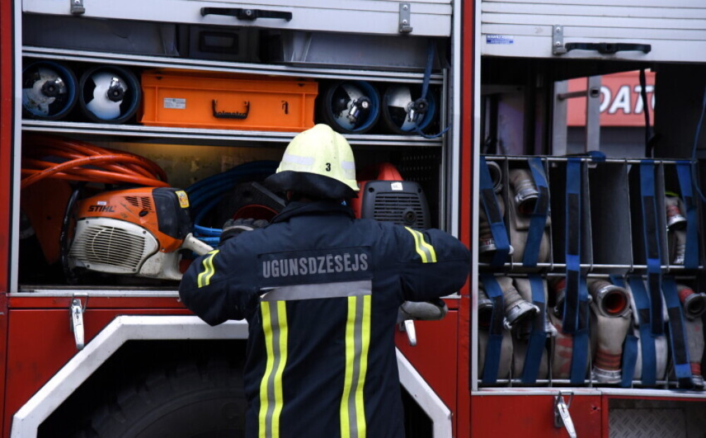 Four people have suffered in a fire in a residential house in Ādaži municipality